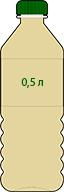 Варианты розлива Экстракта Сапропеля (жидкого ЭС-2): 0,5 литров