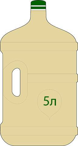 Варианты розлива Экстракта Сапропеля (жидкого ЭС-2): 5 литров