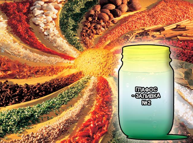 Смеси специй от компании респект для мяса, готовая заливка - маринад для мясных полуфабрикатов и изделий из мяса говядины, свинины, индейки и птицы - Глафос-заливка №2 - Состав: Фосфаты (E-339, E-451), молочная кислота (E-270), цитраты (E-331), лимонная кислота (E-330), диацетат Na (E-262), Глюконо-Дельта-Лактон (E-575), усилитель вкуса (E-621), эриторбат (E-316), сахара, соль и деминерализованная вода.
