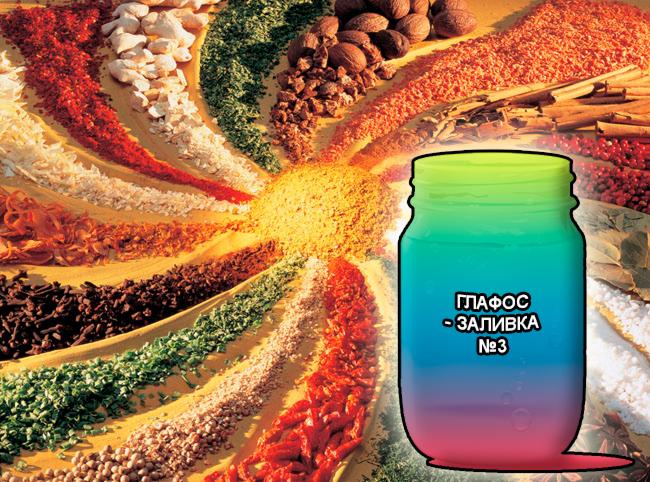 Смеси специй от компании респект для мяса, готовая заливка - маринад для мясных полуфабрикатов и изделий из мяса говядины, свинины, индейки и птицы - Глафос-заливка №3 - Состав: Фосфаты (E-339, E-451), молочная кислота (E-270), цитраты (E-331), лимонная кислота (E-330), уксусная кислота (E-260), диацетат Na (E-262), Глюконо-Дельта-Лактон (E-575), усилитель вкуса (E-621), эриторбат (E-316), сахара, соль и деминерализованная вода.