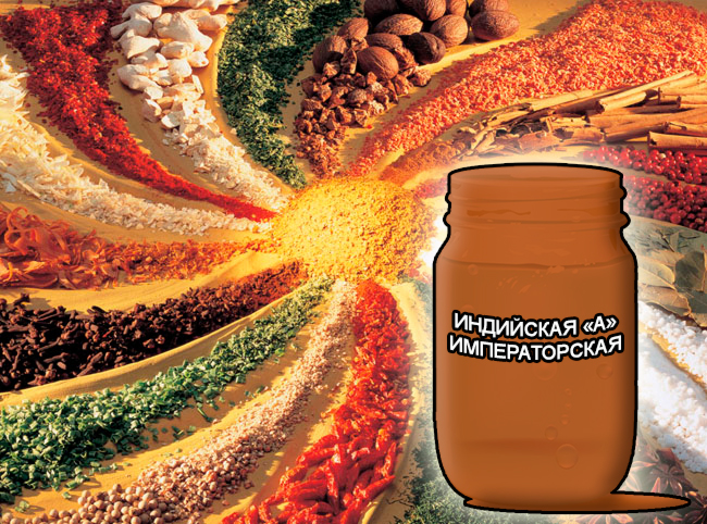 """Смеси специй от компании респект для мяса, сухие смеси Императорские для маринадов - Индийская """"А"""" Императорская - Состав: Усилитель вкуса (Е-621), загустители (Е-410, Е-412, Е-415), молочный белок, сахар, соль поваренная, регулятор кислотности (Е-330) и оригинальный состав пряностей: перец черный в/р, перец душистый в/р, кориандр, корица, тмин, имбирь, мускат, гвоздика, паприка зеленая и красная."""