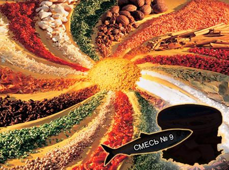 Смеси специй для рыбы от компании ЗАО Респект - Пряно-солевые смеси с консервантами и антиокислителями на пересыпку рыбы для производства пресервов пряного посола из сырца, охлажденной или мороженой рыбы - Смесь № 9 Ряпушка, рипус, пелядь, сельдь, тугун - состав - Перец черный, душистый, гвоздика, корица, кориандр, имбирь, мускатный орех, лавровый лист, соль