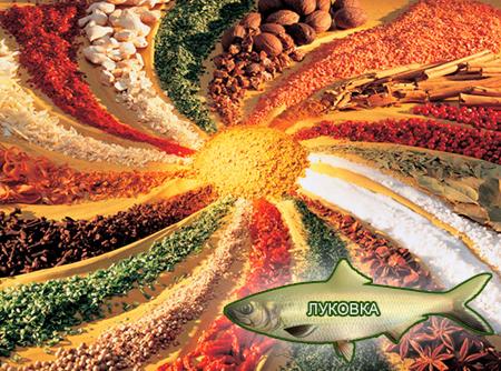 Смеси специй для рыбы от компании ЗАО Респект - декоративные спеси для обсыпок, Смесь пряностей, с основной нотой: лука, укропа, паприки, горчицы