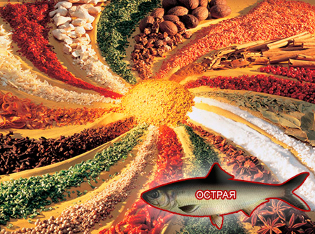 Смеси специй для рыбы от компании ЗАО Респект - декоративные спеси для обсыпок, Смесь пряностей, с основной нотой: перца черного, перца красного острого, паприки