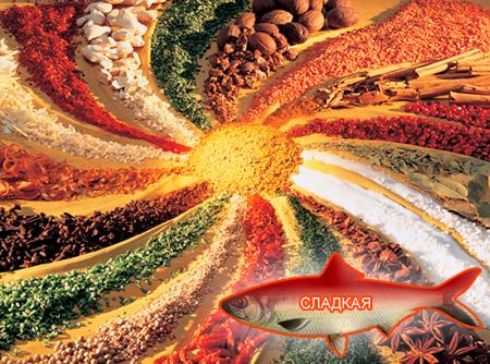 Смеси специй для рыбы от компании ЗАО Респект - декоративные спеси для обсыпок, Смесь пряностей, с основной нотой: паприки красной, моркови, кориандра, укропа